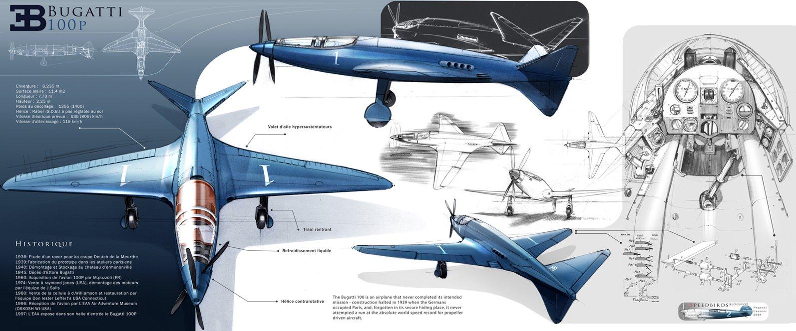 Bugatti 100P Plane  The Bugatti 100P