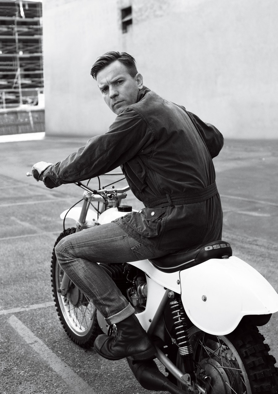 Ewan MacGregor Motorcycle Ewan McGregor On An Ossa