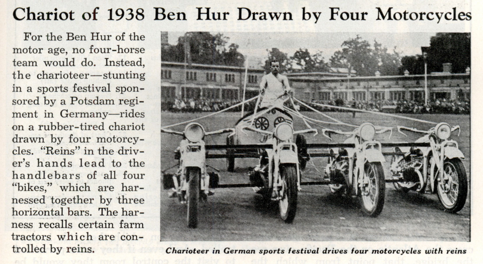 Four Motorcycle Chariot