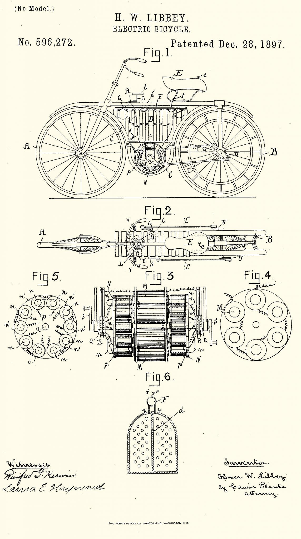 H. W. Libbeys Electric Bicycle H. W. Libbeys Electric Bicycle