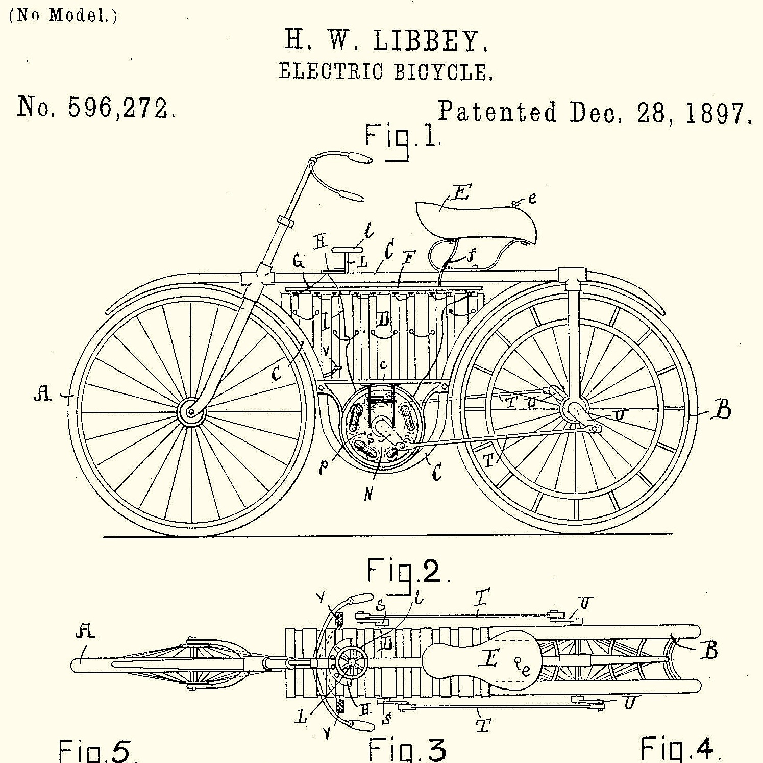 H W Libbey S Electric Bicycle Silodrome