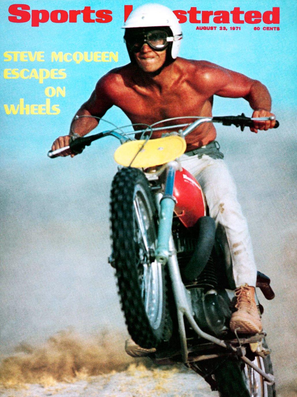 Steve McQueen Rolex Sports Illustrated Motorcycle Steve McQueen   Sports Illustrated