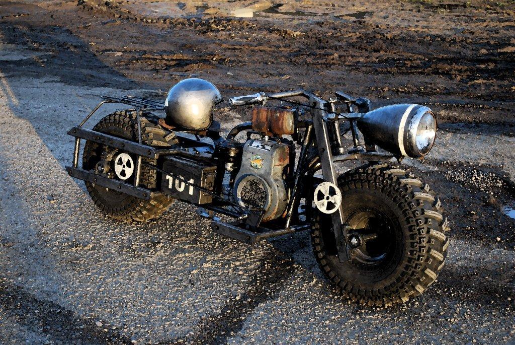 fallout bike motorcycle Riffel Fallout 3 Bike