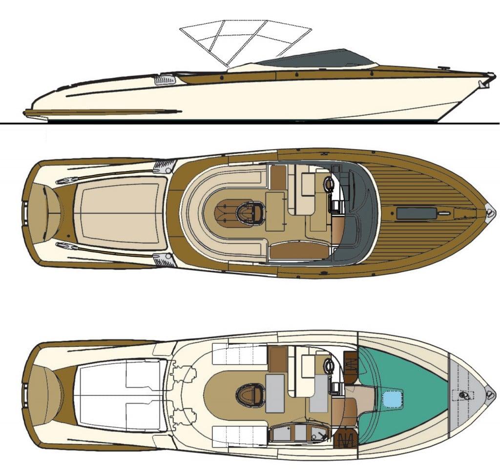 Aquariva 33 Plans 1024x960 Riva Aquariva 33