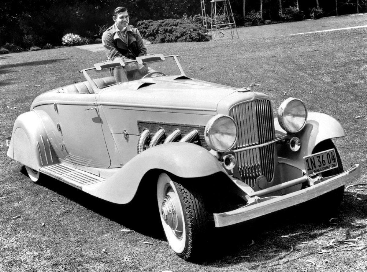 Clark Gable and his Dusenberg