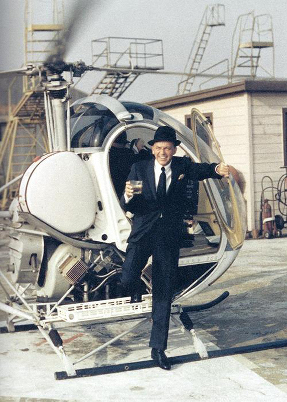 Frank Sinantra Helicopter Whiskey