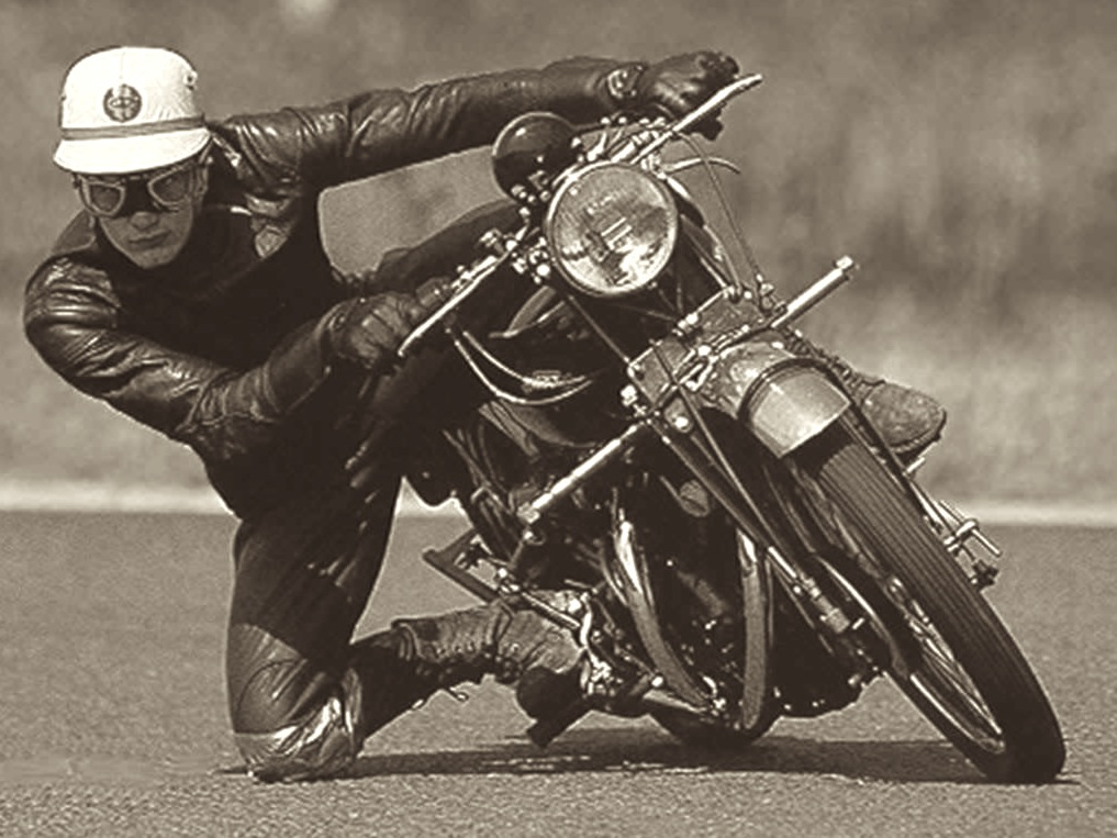 John Surtees Getting His Knee Down