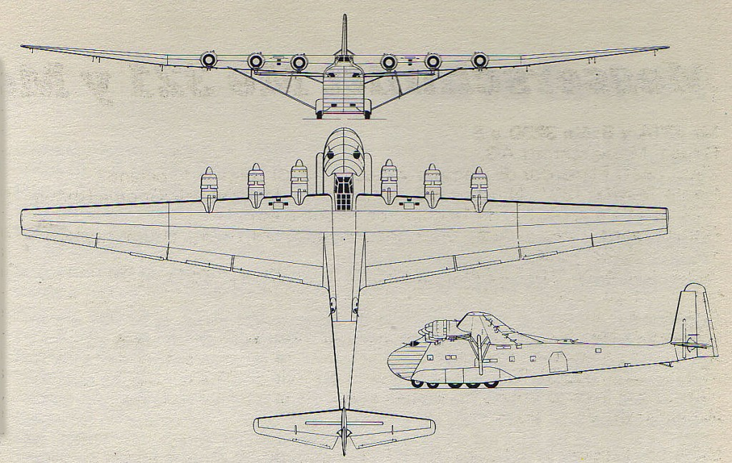 Messerschmitt Me 323 D Plans 1024x648 Messerschmitt Me 323 D