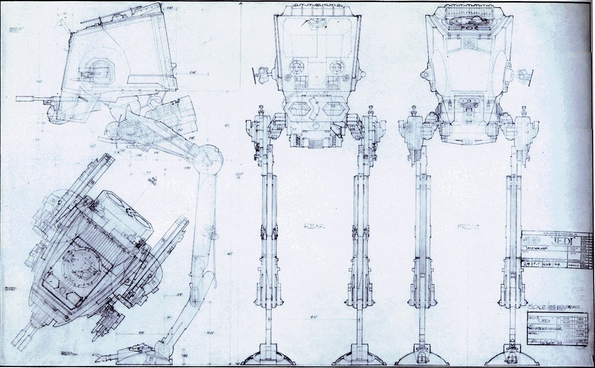 New Star Wars All Terrain Scout Transport Blueprint - SILODROME &XK44