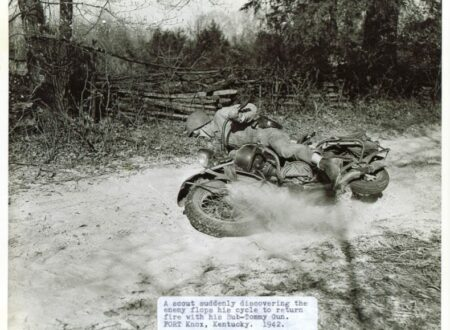 WWII Motorcycle e1333087487931 450x330 - Motorcycle Training - Fort Knox 1942