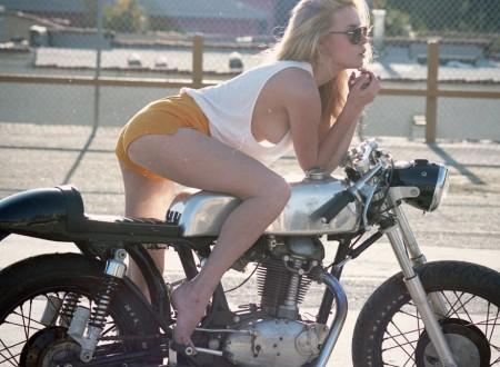 girl cafe racer