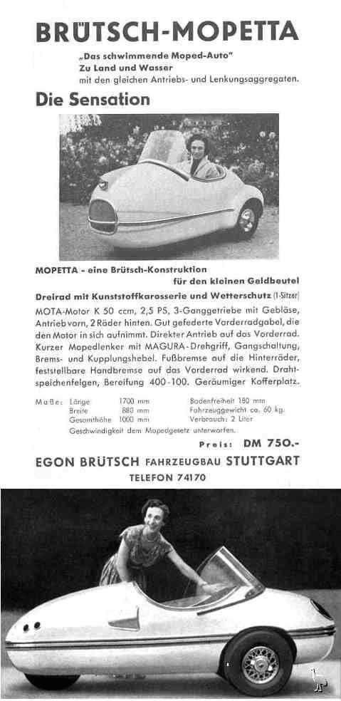 Brütsch Mopetta Microcar