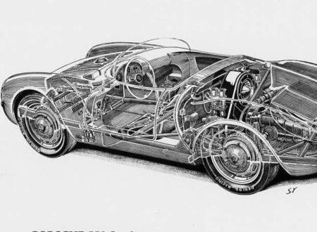 porsche 550 spyder1 450x330 - Porsche 550 Spyder Cutaway