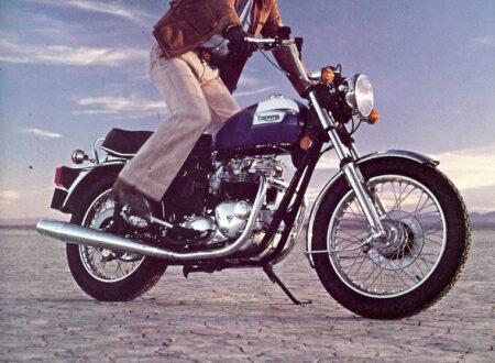 vintage advert triumph 450x330 - Some Bikes Challenge Egos