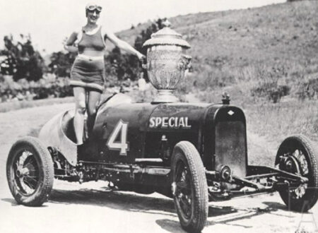 Pikes Peak 1927 Joe Unser Sr Graham Paige Princess Power w Penrose Trophy 450x330 - Pikes Peak Trophy Girl