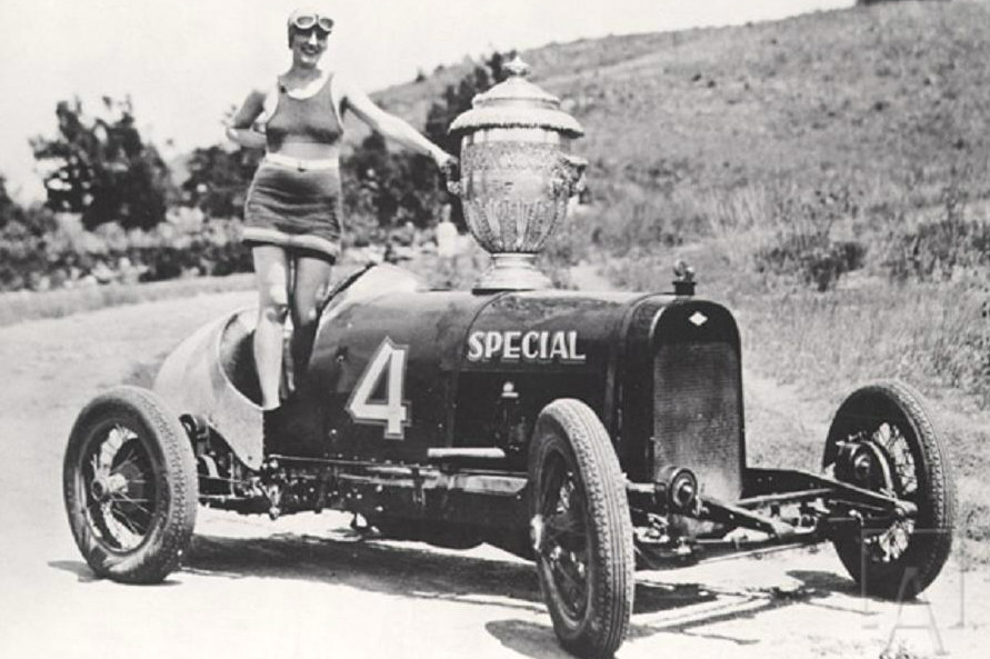 Pikes Peak 1927 Joe Unser Sr Graham Paige Princess Power w Penrose Trophy Pikes Peak Trophy Girl