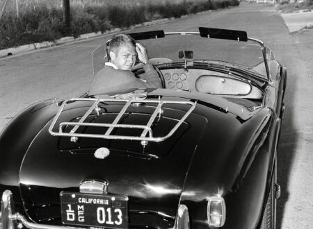 Steve McQueen AC Cobra  450x330 - Steve McQueen In His Shelby Cobra