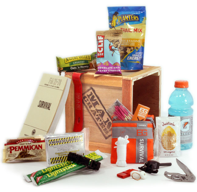 Outdoor Survival Crate by Man Crates