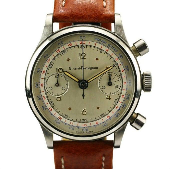 Vintage girard perregaux chronograph silodrome - Objet vintage occasion ...