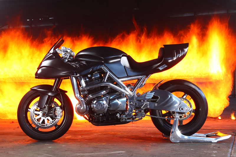 fire big The Icon Sheene Motorcycle