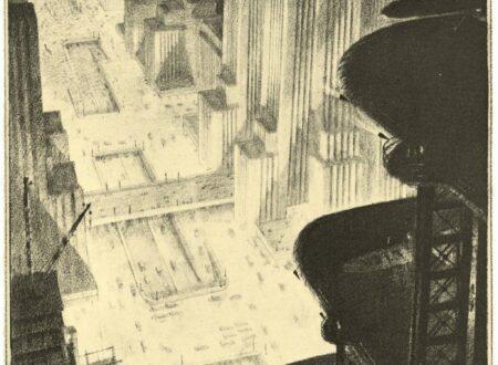 hugh ferriss 450x330 - Skyscraper Hangar In A Metropolis by Hugh Ferriss