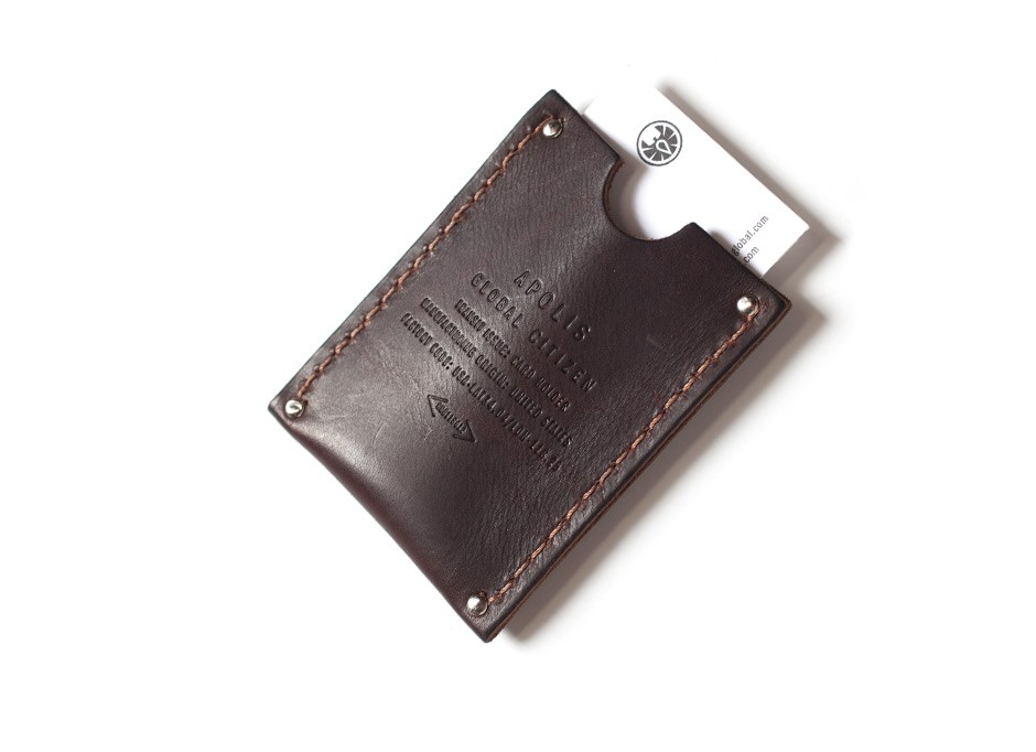 Apolis Leather Card Holder Silodrome
