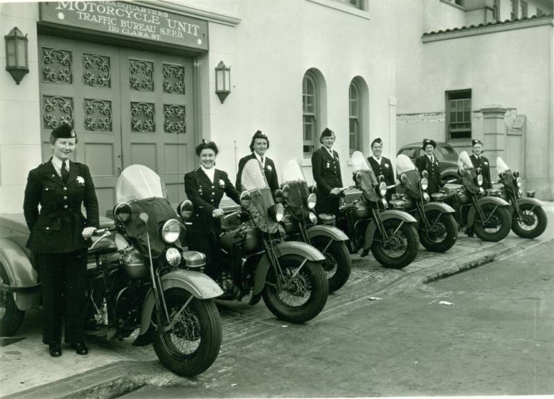 San Francisco Women's Motorcycle Unit - 1940
