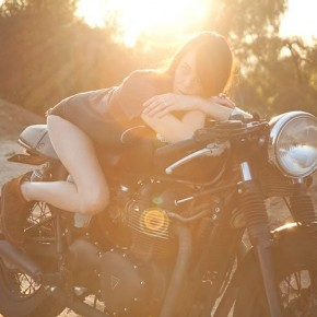 Sunset Cafe Racer Girl