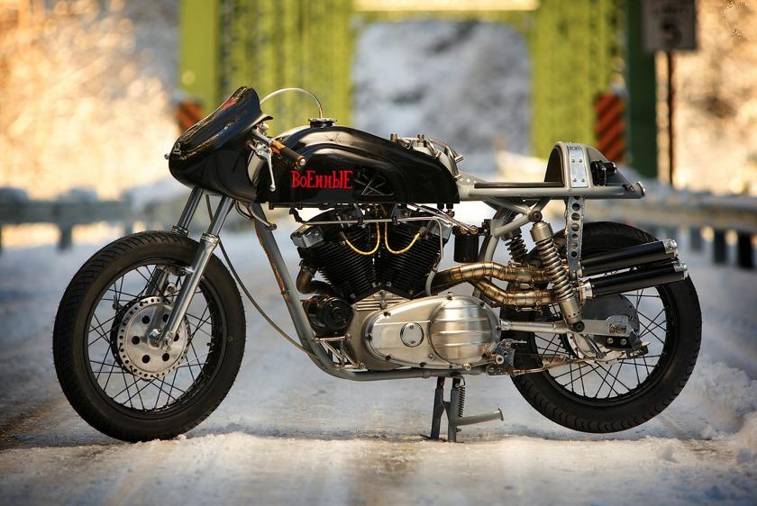 custom harley motorbike 1