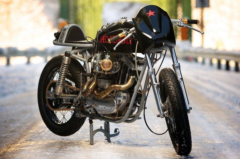custom harley motorbike 2