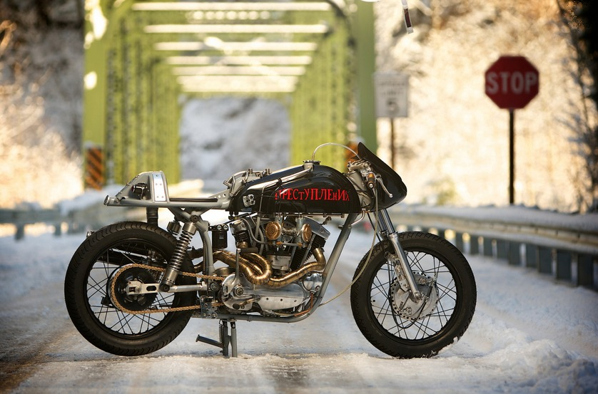custom harley motorbike 4