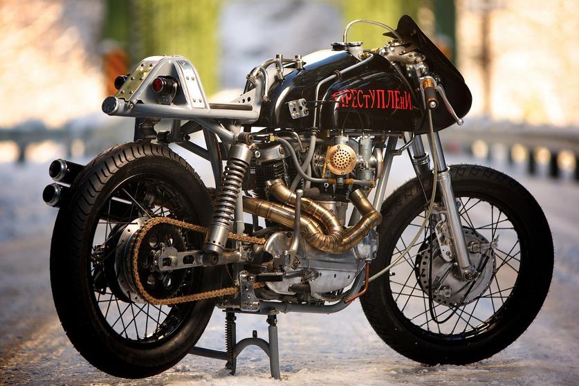 custom harley motorbike