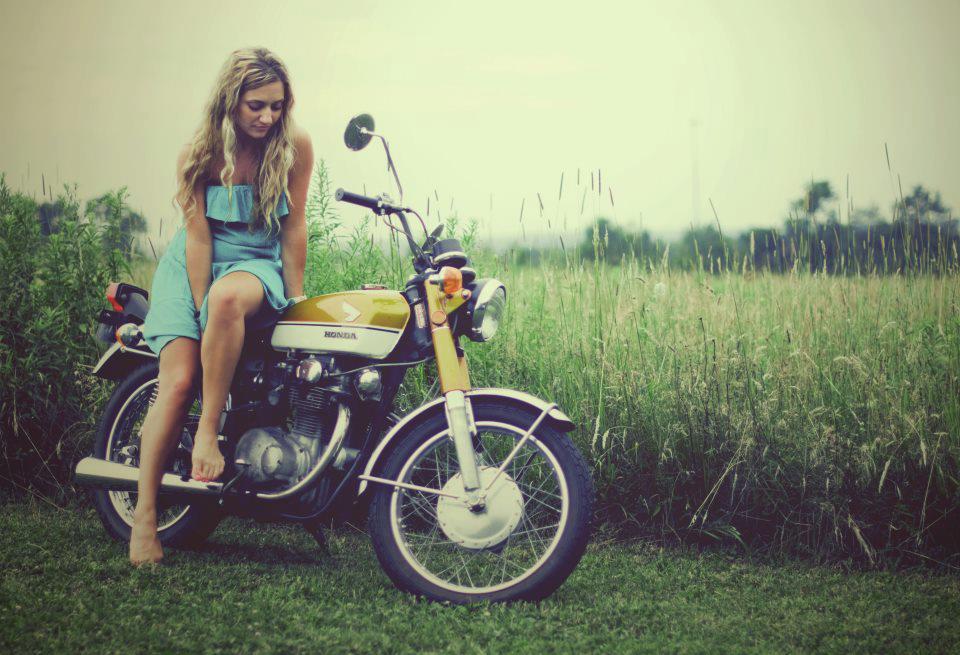 honda girl motorcycle