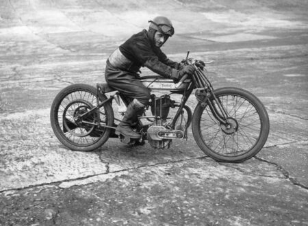 Bert Denley possibly at the Isle of Man in 1925 450x330 - Bert Denley at the Isle of Man - Circa 1925