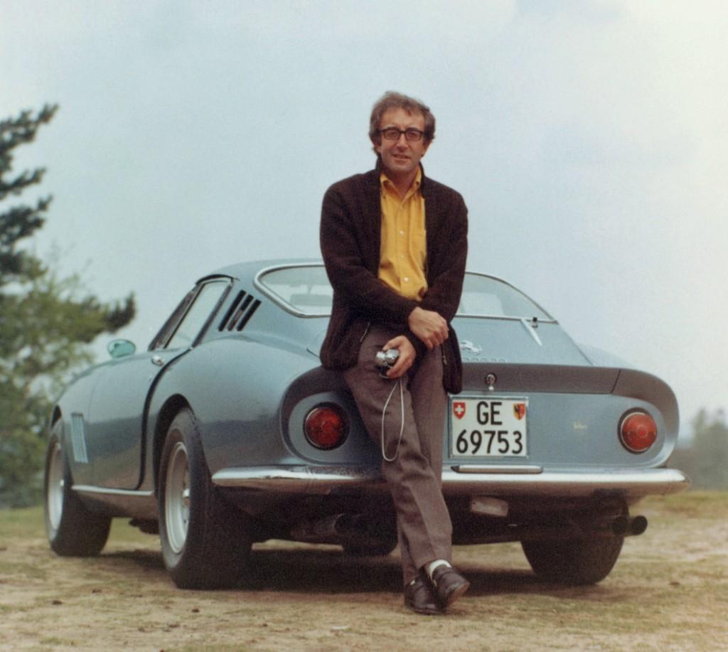 Peter Sellers and his Ferrari 275 GTB in 1965