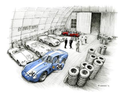 Sebring 1962 the Night Before 450x330 - 12 Hours of Sebring by Paul Chenard