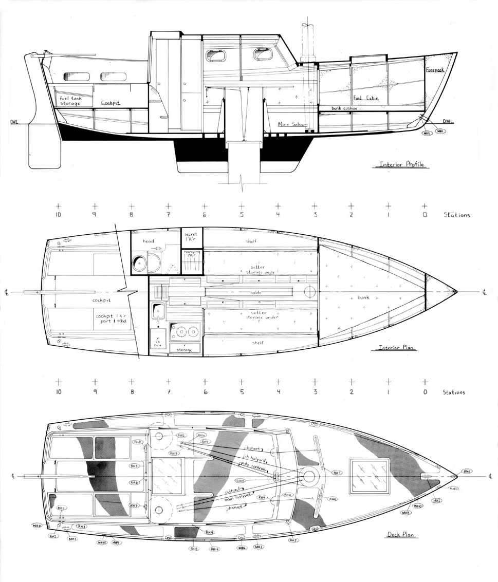 Hot plans for plywood sailboat ridai for Wood house plan