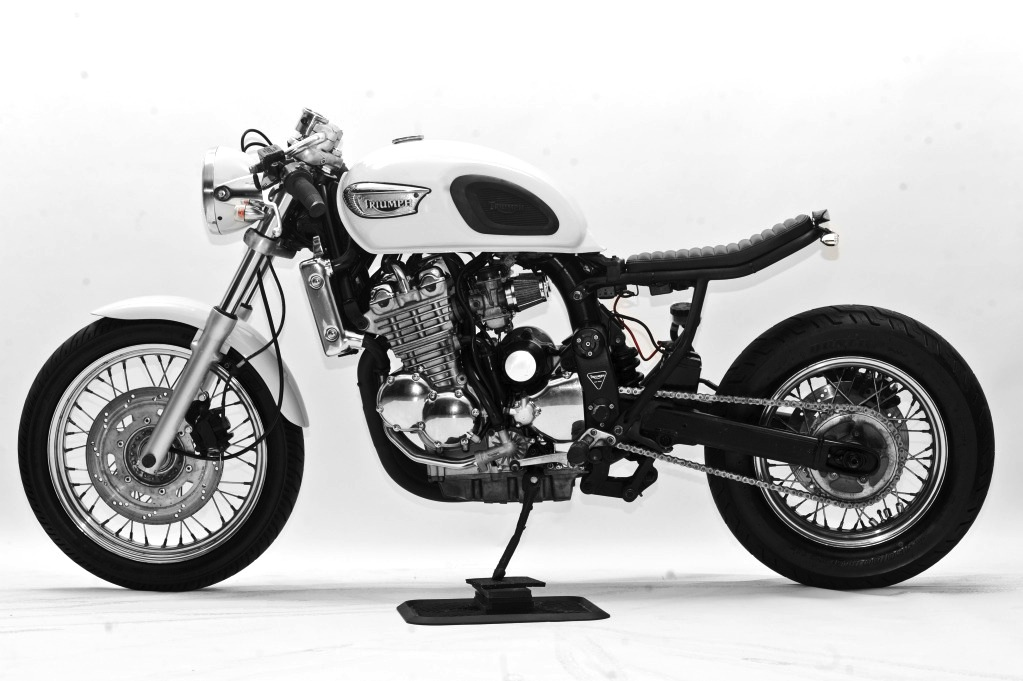 custom triumph motorcycle 1 1998 Triumph Adventurer by Steel Bent Customs