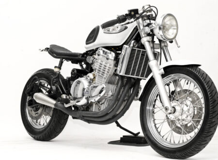 custom triumph motorcycle 2 450x330 - 1998 Triumph Adventurer by Steel Bent Customs