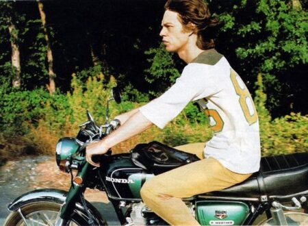 mick jagger motorcycle 450x330 - Mick Jagger in the Saddle
