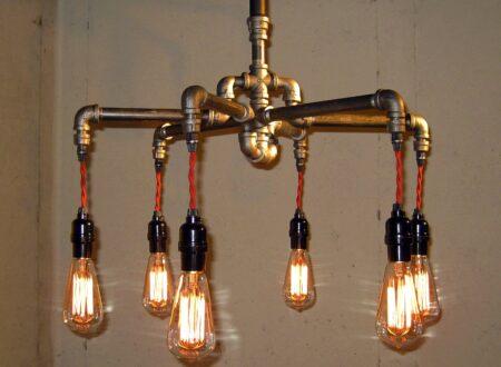 steampunk chandelier 450x330 - Steampunk Chandelier - Milton Douglas Lamp Co.