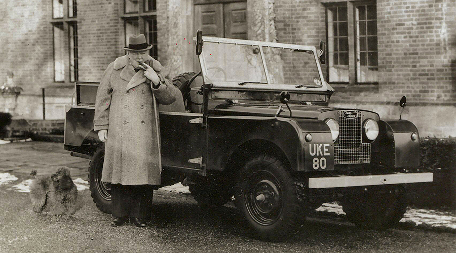 winston churchill land rover