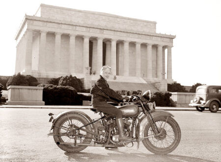 1937 first female motorcycle license washington girl motocycle 450x330 - The First Lady of Washington