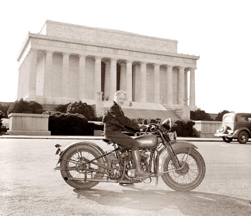 1937-first-female-motorcycle license-washington-girl-motocycle