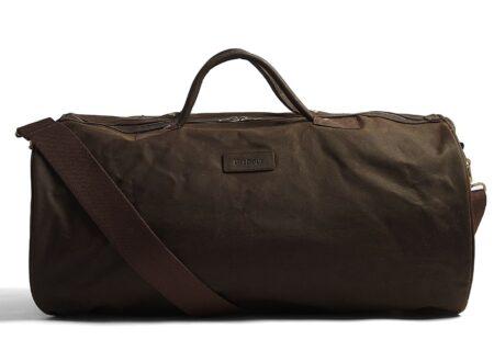 Barbour Waxed Cotton Barrel Bag 1 450x330 - Barbour Waxed Cotton Barrel Bag