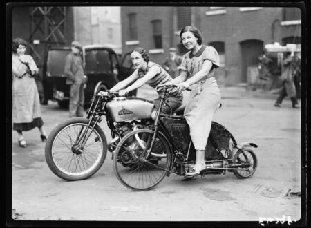 Ladies on Mystery Motorcycles 450x330 - Ladies on Mystery Motorcycles