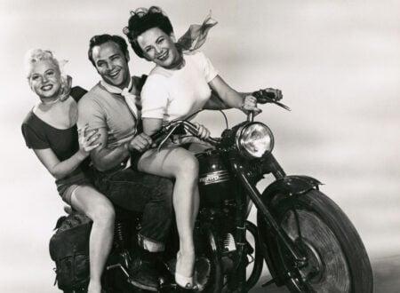 Marlon Brando with Peggy Maley and Yvonne Doughty The Wild One 1953 450x330 - Marlon Brando & Friends