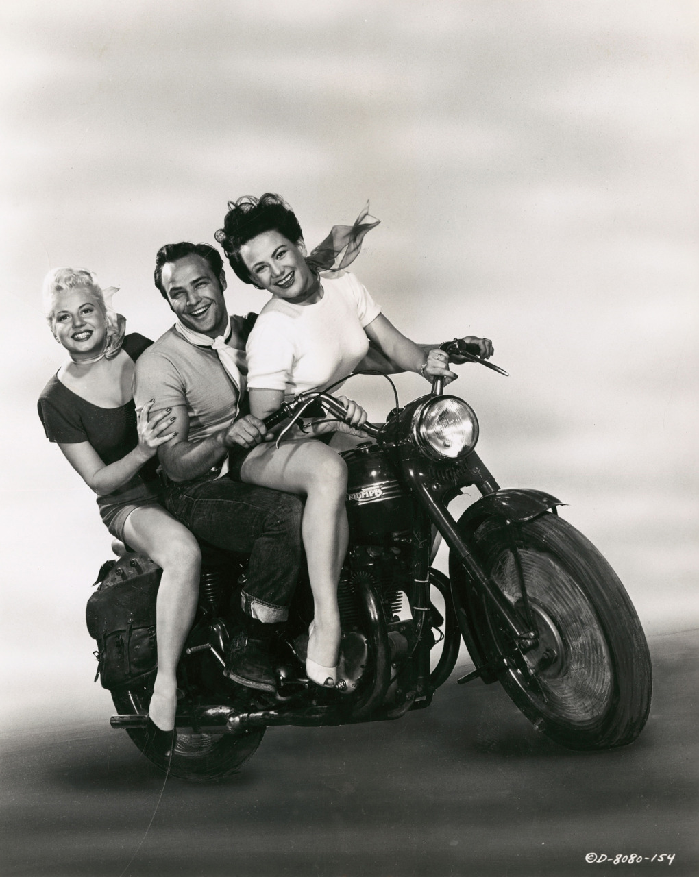 Marlon Brando with Peggy Maley and Yvonne Doughty The Wild One 1953 Marlon Brando & Friends