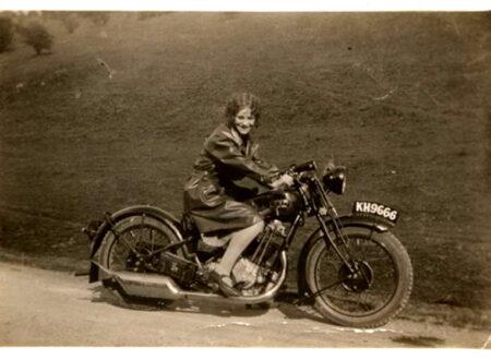 girl-on-vintage-moto 2