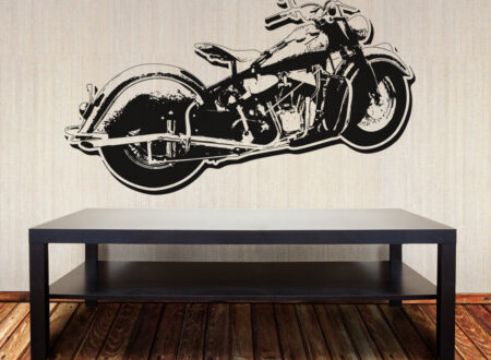 motorcycle wall vinyl 450x330 - Indian Wall Print